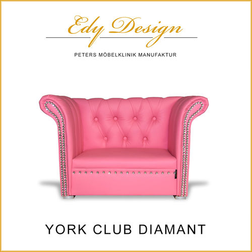 Hundesofa YORK Club Diamant Pink