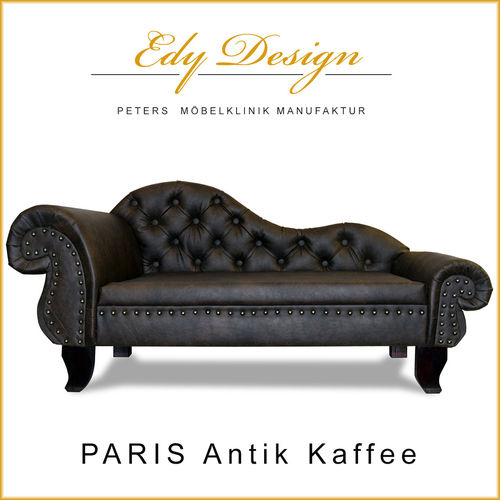 Hundesofa PARIS NEW Chesterfield Recamiere XXL