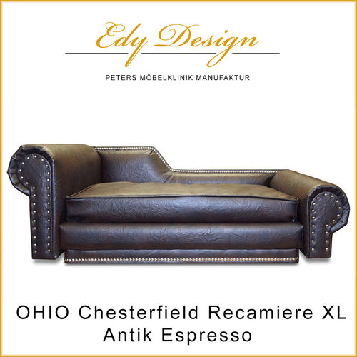 OHIO Recamiere Chesterfield Orthopädische Matratze VISCO