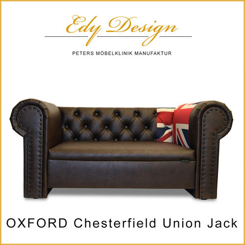 OXFORD Chesterfield Union Jack XXL Vintage Design