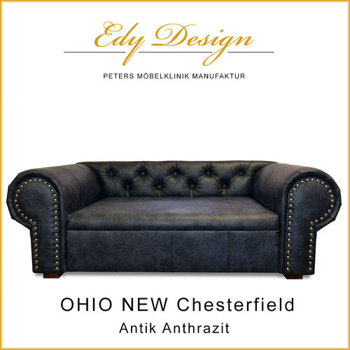 OHIO NEW Chesterfield Antik Anthrazit