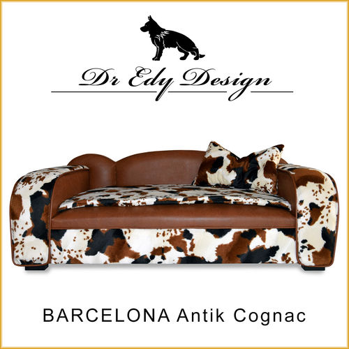 Dog Bed BARCELONA Antik Cognac