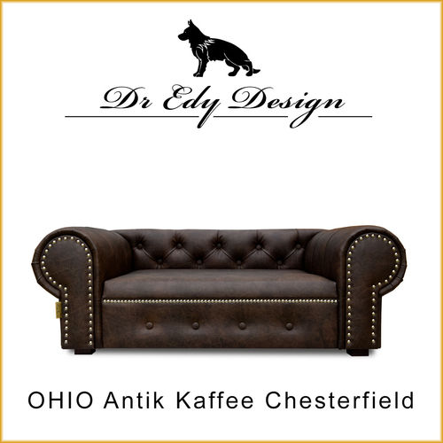 Dog Bed OHIO LUX XL Chesterfield Antik Kaffee